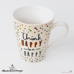Taza Blanca «Think Happy be...