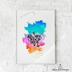 "Ilustración ""All we need is..."