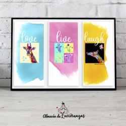 Lámina Love Live Laugh