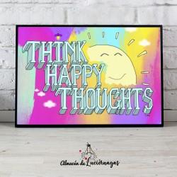 Ilustracion Think Happy Thoughts