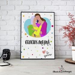 """Ilustración """"Gracias Mamá"""""""